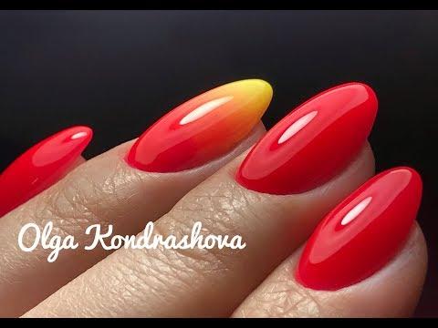 Укрепление ногтей акрилатиком/летний яркий маникюр 💅🏼