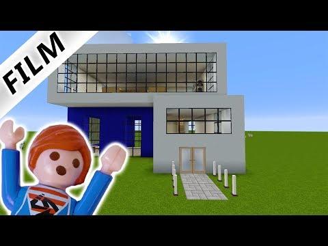 JULIAN BAUT MODERNES HAUS BEI MINECRAFT IM KREATIVMODUS! Playmobil Film Deutsch - Familie Vogel