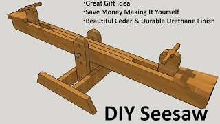 This video shows a DIY See Saw / Teeter-Totter project, it's made o...
