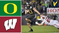 #6 Oregon vs #8 Wisconsin Highlights | 2020 Rose Bowl Highlights | College Football