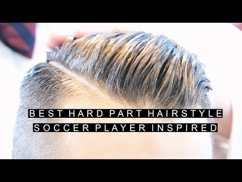 Best Hard Part Hairstyle | Soccer Player Inspired Haircut | Classy Short Hair For Men Side Part