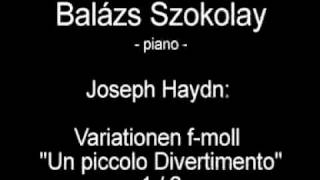 "Joseph Haydn: Variationen f-moll Part 1/2 ""Un piccolo Divertimento"" - Balázs Szokolay"