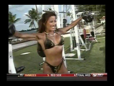 Kiana Tom FlexAppeal Leopard String Bikini Workout