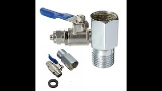 обзор кран 1/2 ''до 1/4'' подачи воды адаптер шаровой клапан