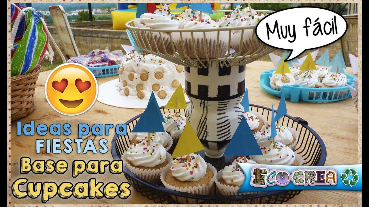 Base para cupcakes f cil y reciclada youtube - Bases para cupcakes ...