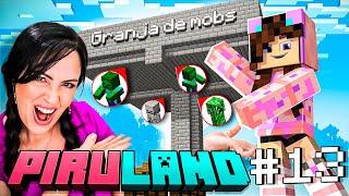 Como Hacer una GRANJA de MOBS Fácil 😱 Mi Primera Vez Construyendo en Minecraft 🔥 Sandra Cires Play