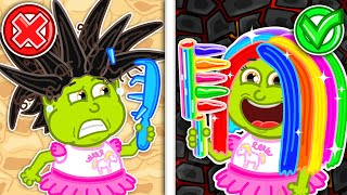 Download Funny Story about Hairstyles 💈 Pretend Play with Baby Dolls | Lion Family | Cartoon for Kids
