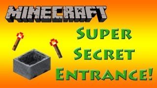 Super Cool Secret Entrance with Minecarts in Minecraft! [Tutorial]