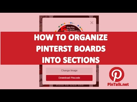 How to Organize a Pinterest Board into Sections