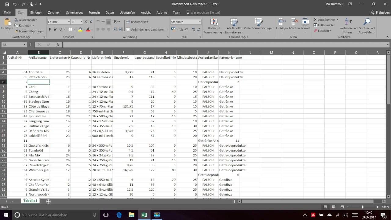 Excel Liste Mit Makro Aufbereiten Youtube