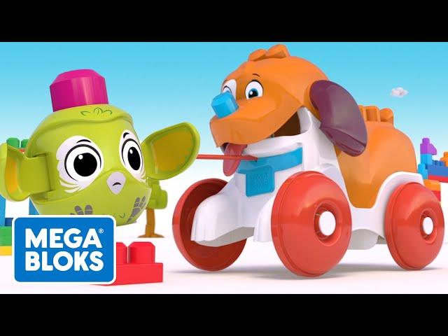 Mega Bloks™ - Köpekçik Yürüyüşe Çıkıyor | çocuk çizgi filmleri | Fisher-Price | öğrenme videoları