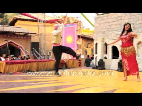Egyptian dancers perform in India