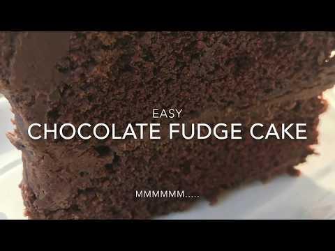 Easy Chocolate Fudge Cake - How To Make Chocolate Fudge Cake
