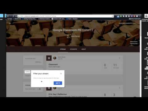 Google Classroom: Sort By Topic