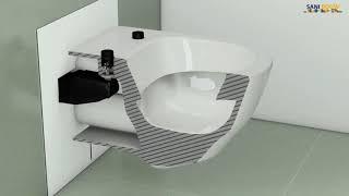 Installatie douchewc Villeroy & Boch ViClean-L
