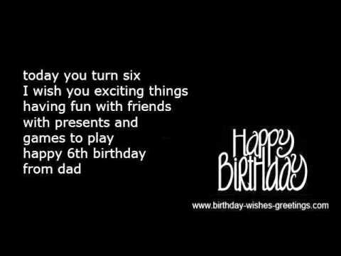 6th Birthday Wishes Kids Youtube