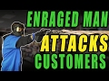 Enraged Man Attacks Store Customers – First...
