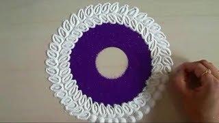 How to make creative and colourful rangoli design | easy rangoli by Yogita Garud thumbnail