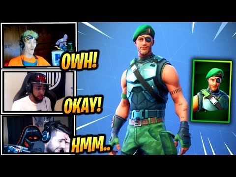 STREAMERS REACTS *NEW* GARRISON SKIN - Fortnite Epic & Funny Moments (Fortnite Battle Royale)