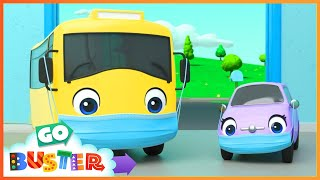 Buster Gets Sick - Wash Your Hands | Go Buster | Baby Cartoons | Kids Videos | ABCs and 123s