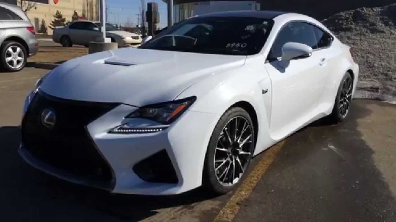 New Ultra White 2015 Lexus RC F 2dr Cpe - Performance Package Review