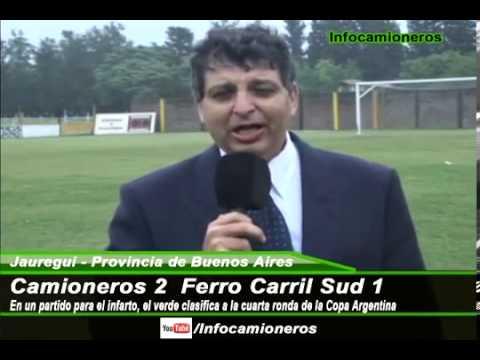 """CAMIONEROS 2 - 1 FERRO CARRIL SUD (OLAVARRIA) TORNEO ARGENTINO """"B"""" 2013"""