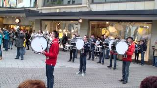 party rock anthem lmfao flashmob marchingband tsv lauf
