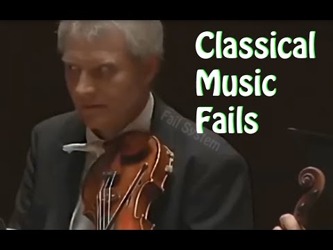 Top 10 Fails Classical Music Fails Youtube
