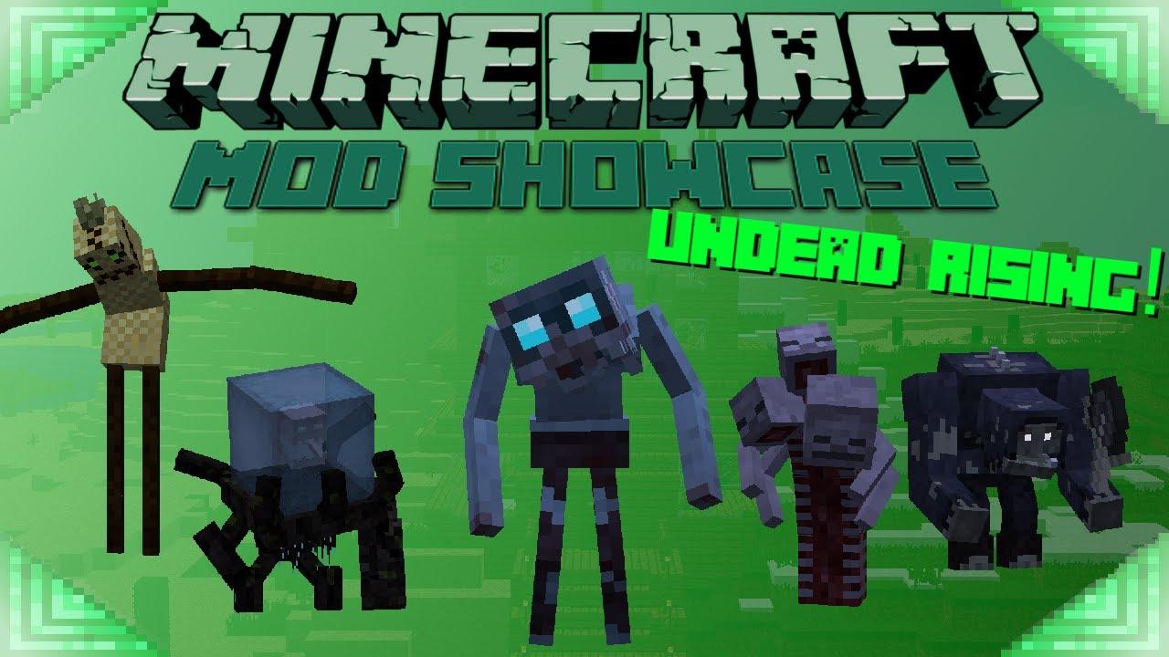 FISH'S UNDEAD RISING (Minecraft Mod Showcase) CREEPY MOBS