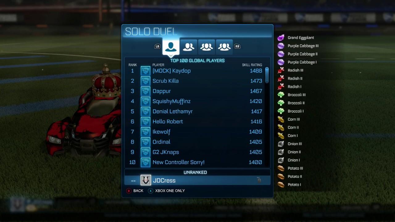 Rocket League Ranking