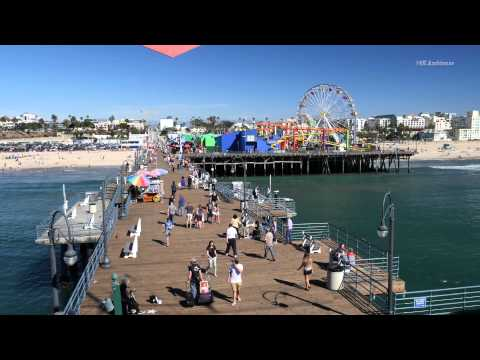 Santa Monica Pier in 4K resolution. Background for your smart TV.