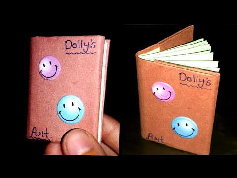 DIY mini notebook / How to make mini notebook with paper / paper notebook making / paper craft