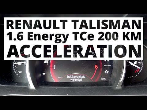 Renault Talisman 1.6 Energy TCe 200 hp (AT) - acceleration 0-100 km/h