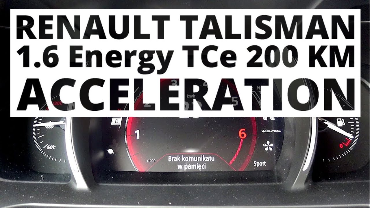 renault talisman 1 6 energy tce 200 hp at acceleration 0 100 km h youtube. Black Bedroom Furniture Sets. Home Design Ideas