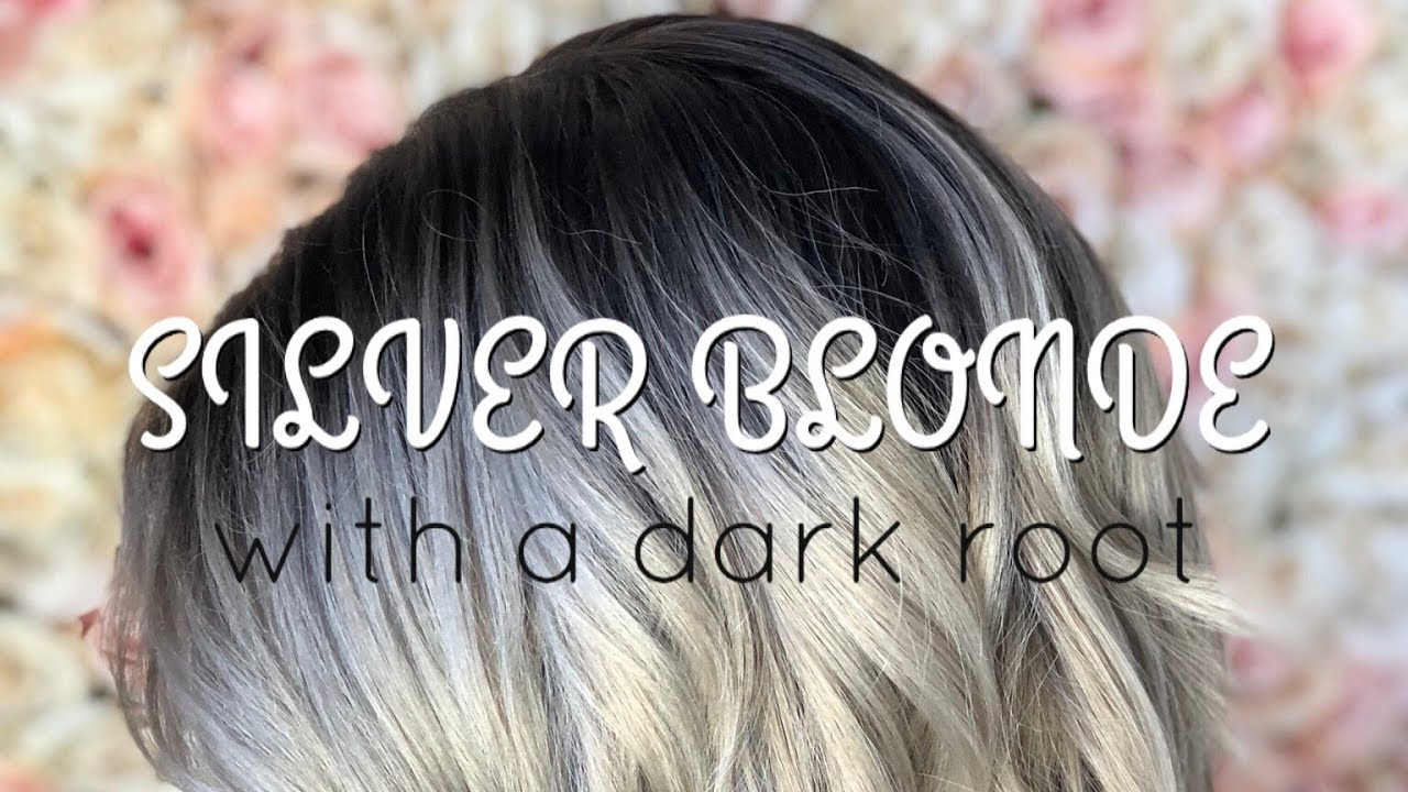 How To Do A Paint Between Silver Blonde With A Dark Root Youtube