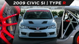 homepage tile video photo for 2009 CIVIC Si TYPE R CONVERSION   #TOYOTIRES   [4K60]