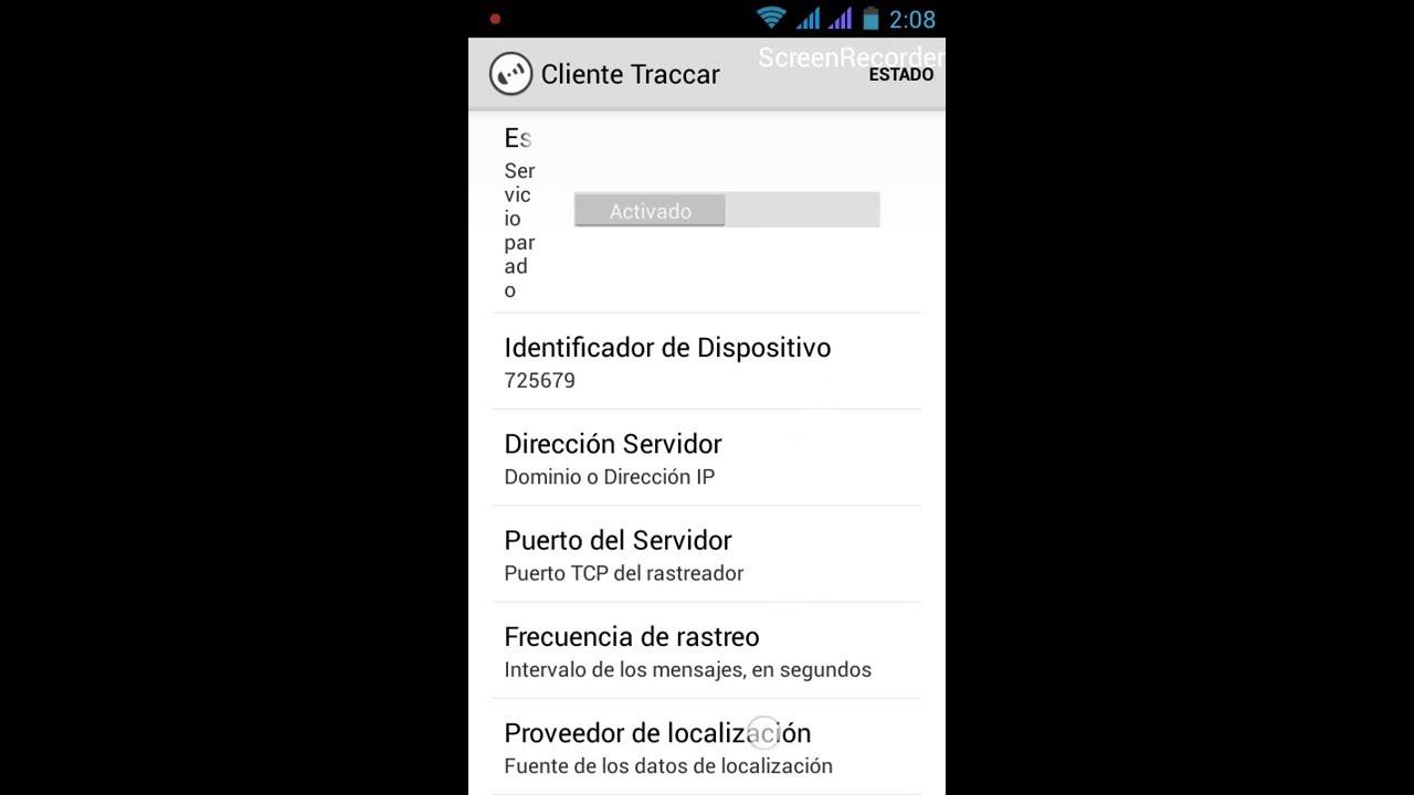 Configurando Traccar (demo) para rastreo de movil  LADO MOVIL