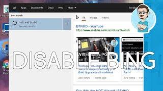 Disable Bing Search in Windows 10 Start Menu