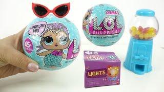 LOL Surprise Doll Baby Sister Blind Bag Balls Light Up Num Noms Disney Princess Toy unboxing