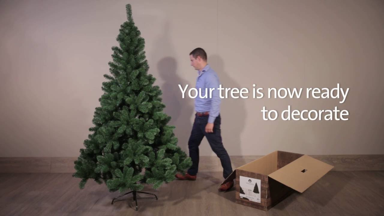 Albero Di Natale Washington Deluxe.Assembly Everlands Tree Hinged System Youtube