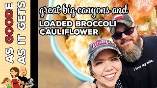 Crockpot Low Carb Loaded Broccoli Cauliflower // RV Living // Santa Elena Canyon Big Bend Ntl Park