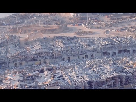 Beirut Explosion Damage Captured by Drone
