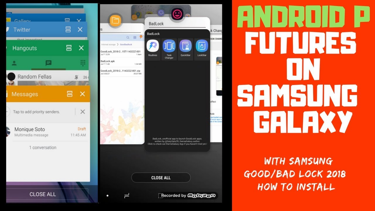 Android P 9 Features with Samsung Good Lock 2018 (Worldwide)