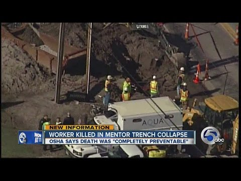 Mentor trench collapse kills worker