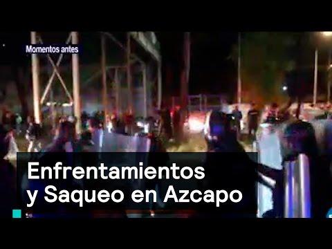 Saqueos y enfrentamientos en Azcapo - Saqueos
