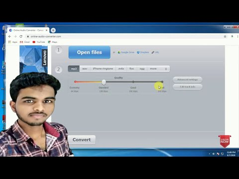 online audio converter free// high quality audio(M4A) to MP3 online