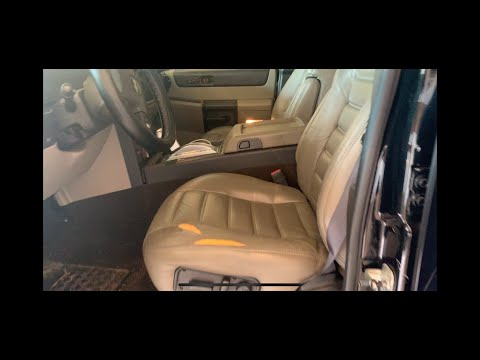Hummer H2 driver seat Leather replacement