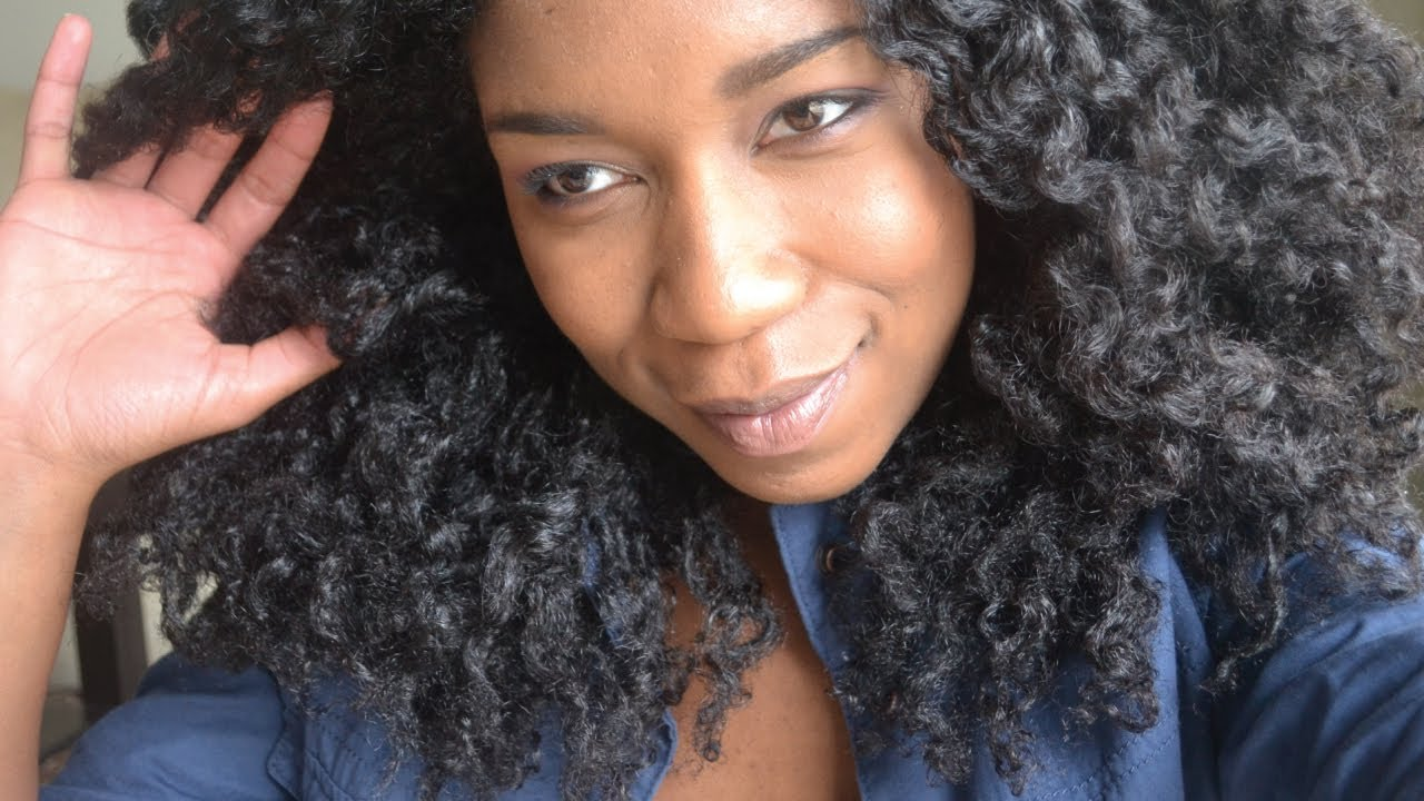 Quick Fishtail Braid Out   Second Day Natural Hair - YouTube