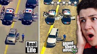 GTA 5 VS VIDA REAL!! #5 GRAND THEFT AUTO V EN LA VIDA REAL - GTA V