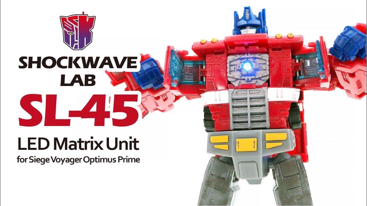 Shockwave Lab SL-45 LED Matrix Unit for Optimus Prime siege Voyager class